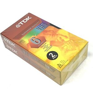 TDK-Superior-Quality-T-120-6-Hour-Recording-VHS-Blank-Video-Cassette-Tape-2-Pack