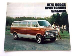 1975 Dodge Tradesman Van Sales Brochure Deluxe