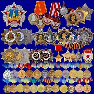Russia-Military-Medals-Orders-Badges-Awards-Pins-Replica-Wholesale-Lenin-WW1-WW2
