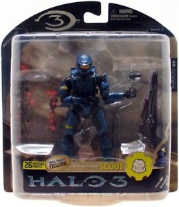Mcfarlane Toys Halo 3 Series 3 Spartan Soldier SCOUT Blue Wal-Mart Exclusive NEW