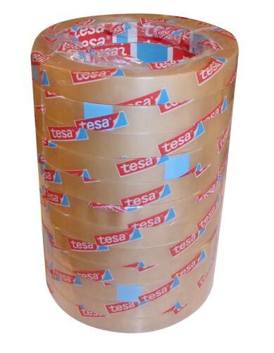 8x Klebeband Großrollen 66m x 12mm Klebefilm Klebestreifen Bastelklebeband