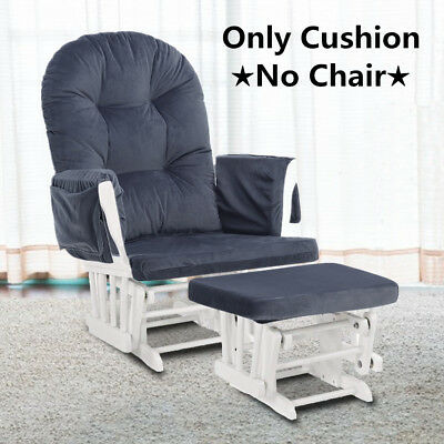 Removable Cushion Of Glider Ottoman Nursery Baby Rocking Mother Relax Rocker