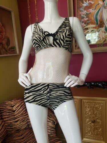 Vintage 1960s Cole of California Scandal Zebra Fis