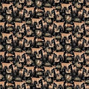 OLD WORLD WOODLAND DEER fat quarter 100/% COTTON FABRIC sew quilt