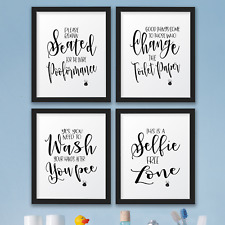the john funny bathroom wall art prints decor pictures signsquotes gag gift - Bathroom Quotes