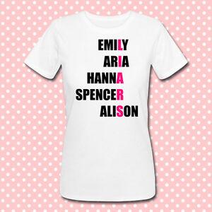 505fcc7f6 T-shirt Emily, Aria, Hanna, Spencer, Alison: Pretty Little Liars ...