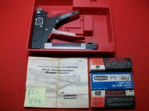 VINTAGE COLLECTIBLE 1968+/- CRAFTSMAN DUAL COMPRESSION STAPLE TACKER GUN #96847