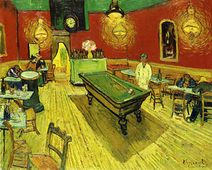 by Vincent Van Gogh Giclee Fine Art Print Reproduction on Canvas 2 Night Cafe