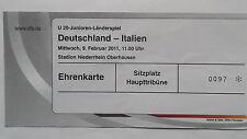 TICKET U20 LS 9.2.2011 Deutschland - Italien in Oberhausen