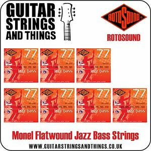 rotosound jazz bass 77 monel flatwound bass guitar strings 4 5 string ebay. Black Bedroom Furniture Sets. Home Design Ideas