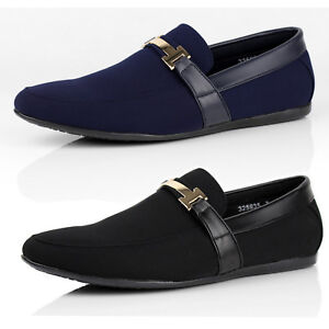 Mens-Slip-On-Shoes-Smart-Driving-Moccasin-Designer-Loafers-New-Fashion-Size-UK