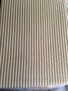 Metallic Taupe Brown Tan Stripe Fabric Shower Curtain