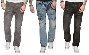 Nuevo-Eto-Jeans-Para-Hombres-Estilo-Funky-Biker-Jeans-Pantalones-en-todos-los-tamanos-de-la-cintura