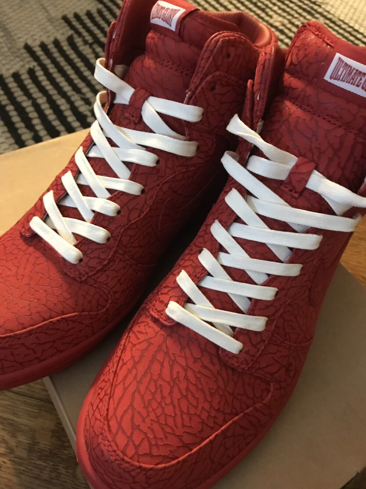 2008 NIKE DUNK HIGH PREMIUM ULTIMATE GLORY CHAVEZ Supreme rosso 323955-661 10.5