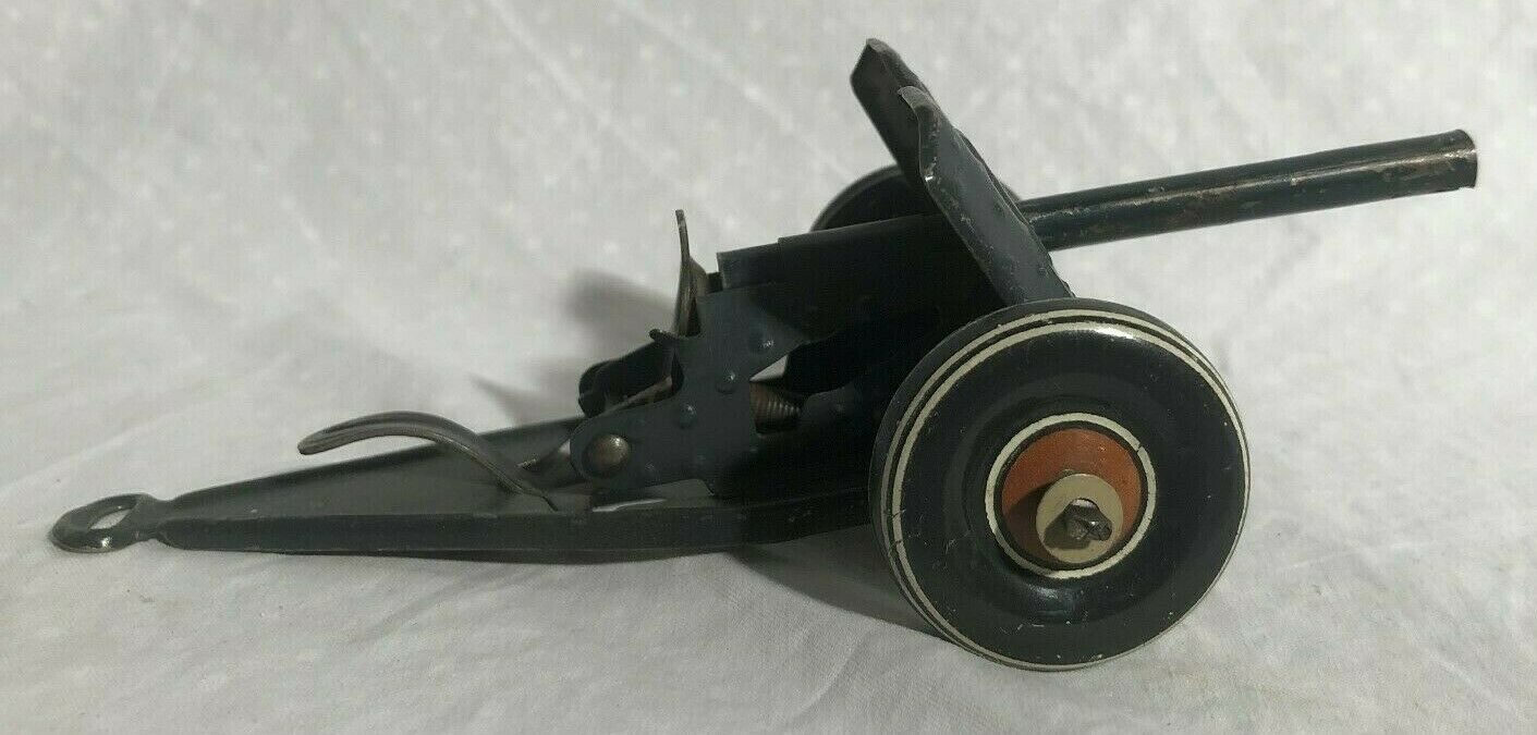 Tippco Pre War Tin Cannon Towed Anti Tank Gun Germany 1930s