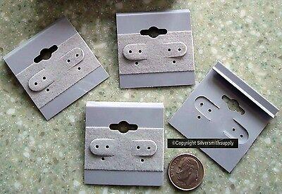25 Gray velvet earring cards Sterling Silver print clip//pierced earrings JD028
