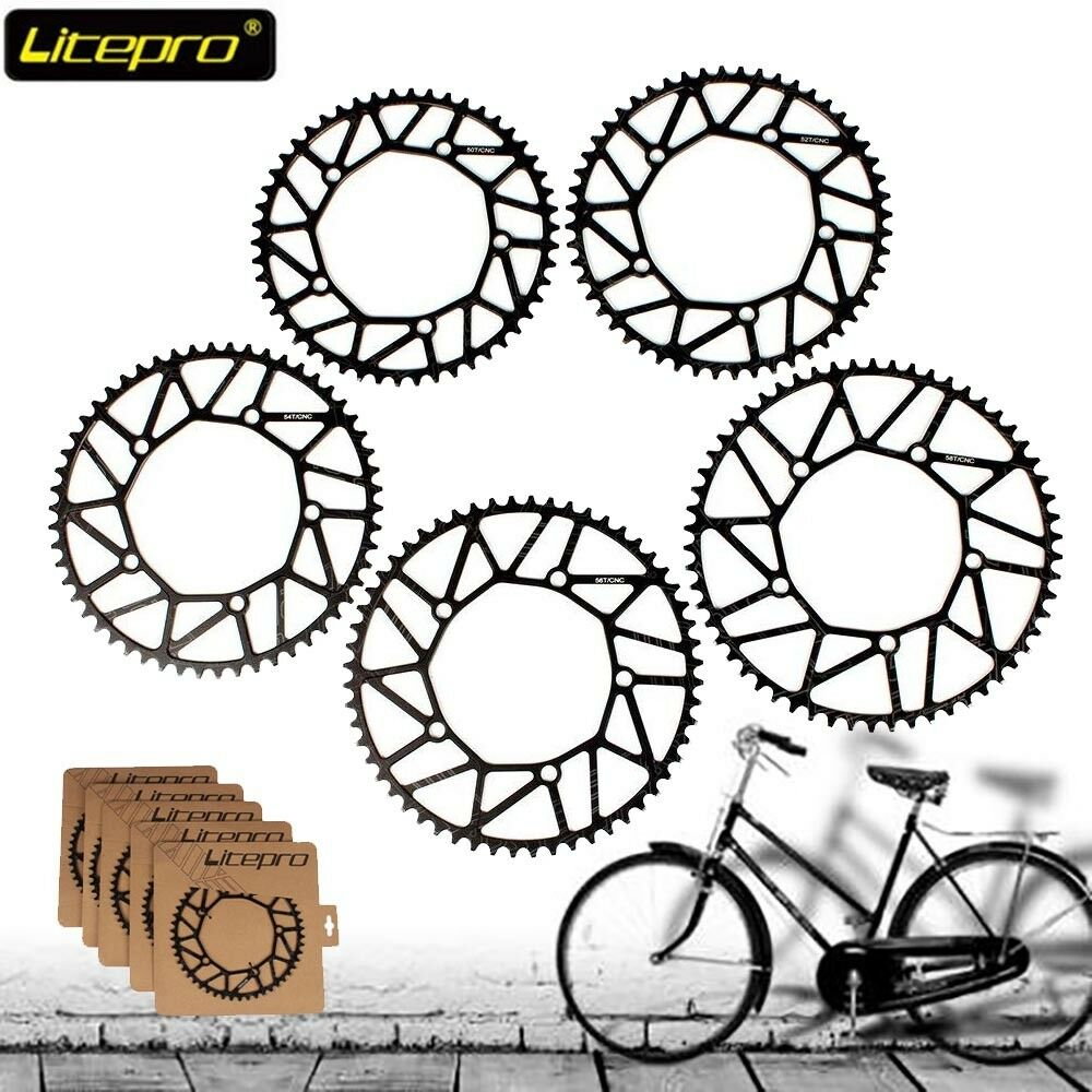 Litepro Bicycle lightweight 130bcd Chainring Narrow Wide Bike Chainweel 50-58T