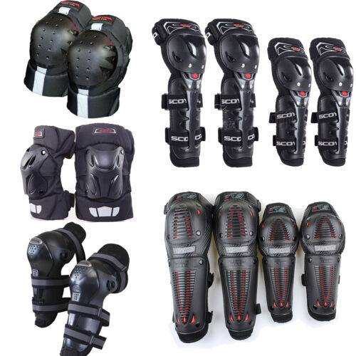 Motorcycle Dirt Pit Bike Racing Knee Shin Protector Guard Armor Elbow Gear Adult