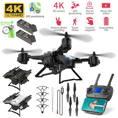 AOUTLE RC Drone KY601G Foldable with Camera WiFi HD FPV Foldable RC Quadcopter 4 Channels LED Light Altitude Hold Foldable FPV Drones Easy Fly