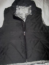 EDDIE BAUER DOWN GOOSE DOWN RUGGED FLAT CHARCOAL GRAY MOUNTAIN JACKET VEST-S