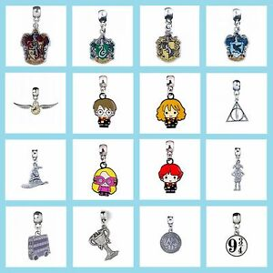 New-Official-Harry-Potter-Jewellery-Silver-Plated-Slider-Charm-Bead-Pendant