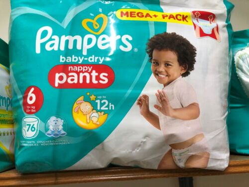 Pampers Baby-Dry Nappies Size 6 76 Pack