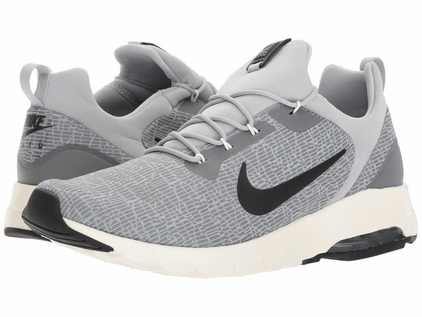 Uomo Nike Air Max Motion Racer Running Wolf Grey/Blk Sizes 8-12 NIB 916771-002
