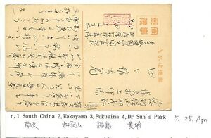 JAPAN OCCUPATION OF CHINA ILLUSTRATED FIELDPOST CARD -SOUTH CHINA- F/VF @2