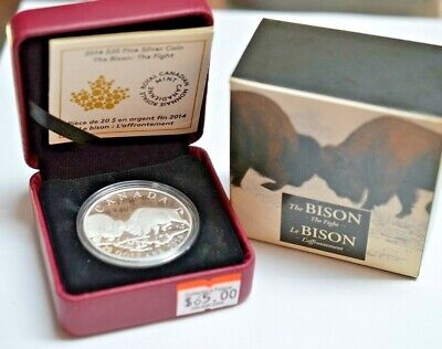 Woolly Mammoth 2014 Royal Canadian Mint $20 Fine Silver Coin