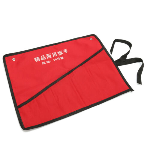 Canvas 8//10//14 Pockets Roll up Tools Spanner Wrench Storage Bag Organizer Pouch