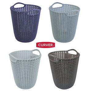 CURVER-tricote-7-litres-Corbeille-a-papier-de-rangement-panier-decoration