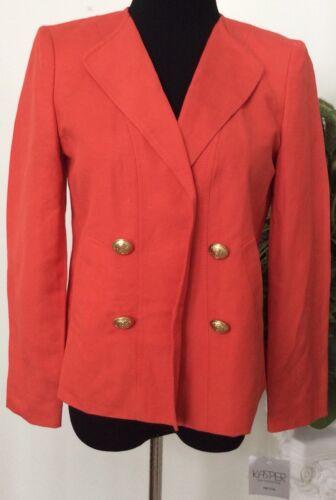 Nwt con 110 Blazer donna Blazer Blazer per 762729137091 Kasper visiera 4p arancione carriera Separates in Sz rwHqprv