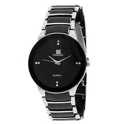 Iik Collection Black Analog Round Casual Watch - smciikroundslbl