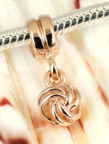 SOLID 9CT 9KT ROSE GOLD Beautiful Dangle BEAD For Charm Bracelet Necklace