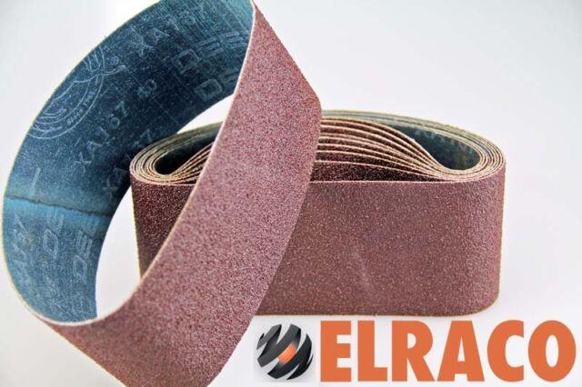 "Ten Sanding Belts  75x610mm (3x24"") 120grit. Industrial cloth backed. ABRB324120"