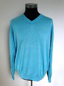 Pullover Turquoise Men's Longsleeve unita L cotone Signum tinta gr TxU6q