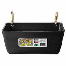 Little Giant Fence Feeder 11 With Clips 4 Qt Dry Horse Sheep Goats Calves Black