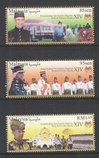 MALAYSIA 2016 NEW HEAD OF STATE YANG DI PERTUAN (SULTAN MUHAMMAD) 3 STAMPS MINT