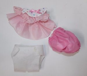 Vintage Tonka Pound Puppies Newborns Outfits Clothing Pink Dress Diaper 7808