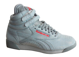 3c9166feea99 Reebok F S Pump Co-Op Lace Up Sparkle Grey Womens Hi Tops Trainers ...