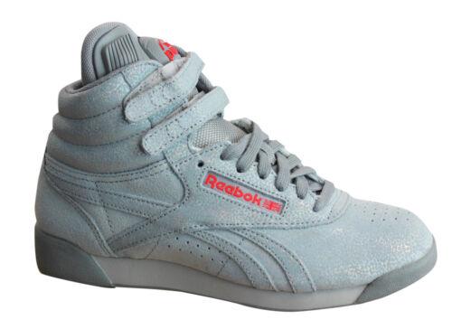 Reebok F//S Pump Co-Op Lace Up Sparkle Grey Womens Hi Tops Trainers V65766 U64