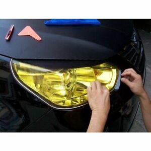 Scheinwerfer-Folie-Toenungsfolie-Gelb-120x30cm-Nebel-Folie-Aufkleber-Wasserdicht