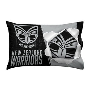 Image Is Loading New Zealand NZ Warriors NRL Pillow Case Pillowcase