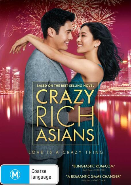 Crazy Rich Asians (DVD, 2018), NEW SEALED AUSTRALIAN RELEASE REGION 4