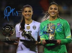 Alex-Morgan-and-Hope-Solo-Autograph-signed-w-COA-Team-USA