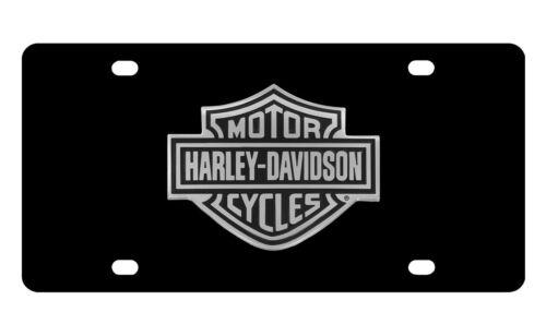 Harley-Davidson Black Coated Bar /& Shield 3D Emblem Vanity License Plate