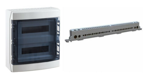 Coffret électrique étanche 2x18 CDN36PT2F 36 modules bornier terre IP65 IDE