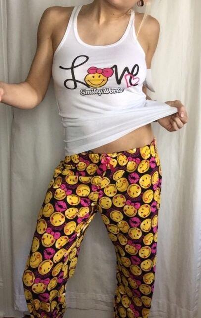 Smiley World Pajamas, Pants w/ Tank,  Super Sexy, Brand New w/ Tags So Cute!