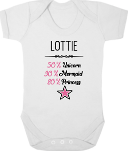 50/% Mermaid and 50/% Unicorn Cotton Short Sleeve T Shirts for Baby Toddler Infant