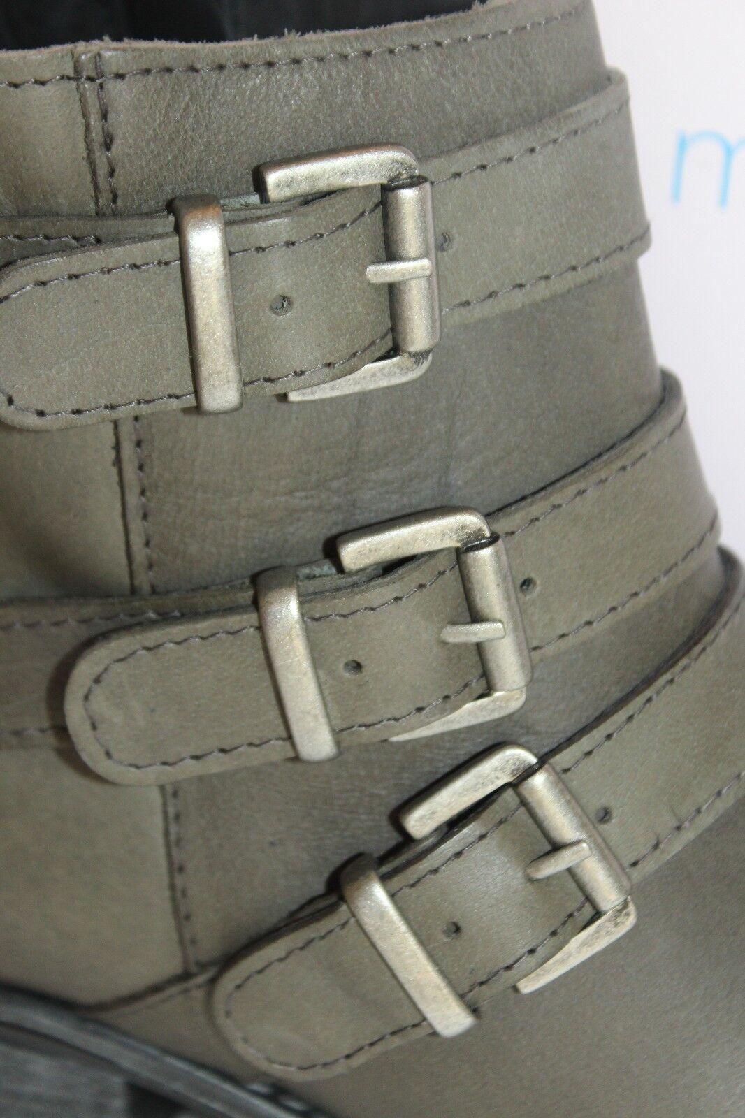 NEW  NIB  ERIC Leder MICHAEL Gray Grau Leder ERIC SPARTA Moto Stiefel US 6.5 EU37 208 43e057